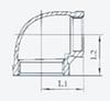 stainless steel fitting eblows 45deg